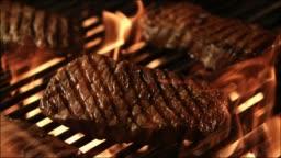 steak on a BBQ fire grill