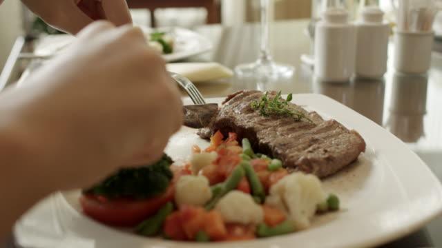 steak - steak plate stock videos & royalty-free footage