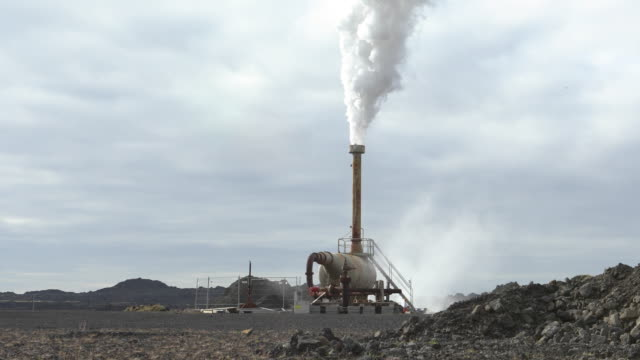 steam at a geothermal power station - power in nature stock videos & royalty-free footage