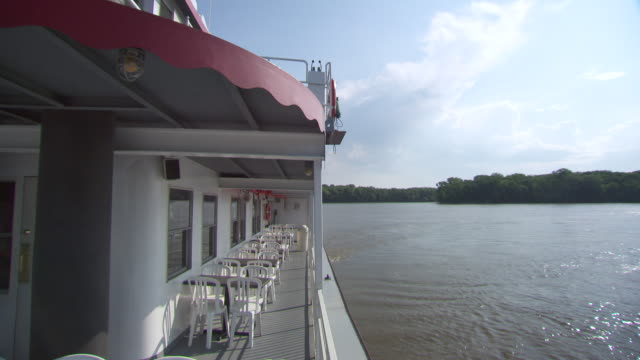 ms steam boat in mississippi river / rock island, illinois, united states - mark twain stock videos & royalty-free footage