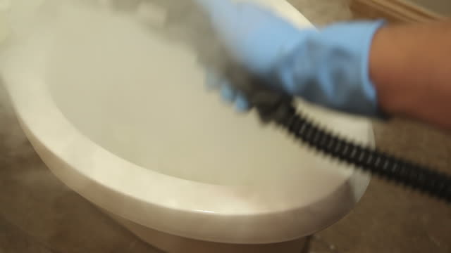 Steam Cleaning Bathroom Toilet
