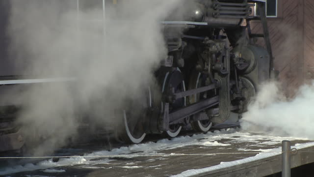 zi ecu steam engine 7470 moving slowly, north conway, new hampshire, usa - the past stock videos and b-roll footage