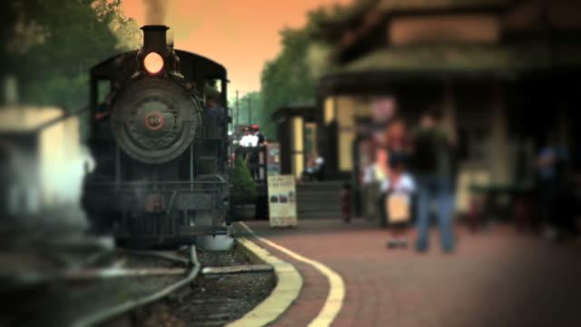 steam engine train at depot - railroad station platform stock videos & royalty-free footage