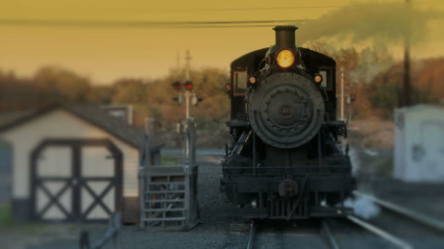 steam engine train locomotive - evening passage - locomotive stock videos & royalty-free footage