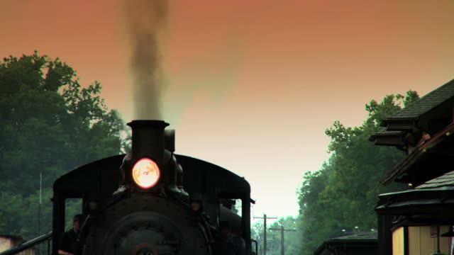 Steam Engine Train Waits at Station #4