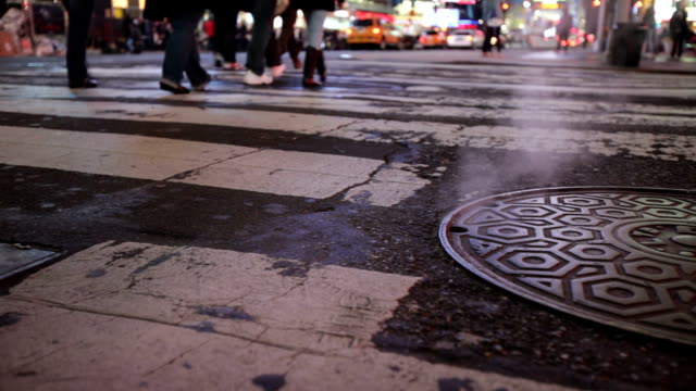 Steam from manhole in NYC