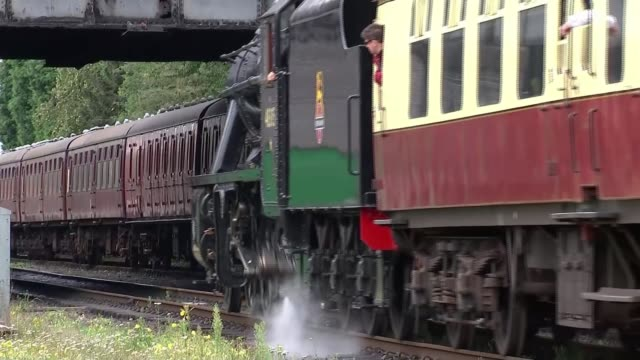 steam heritage railways struggling to attract younger staff and volunteers england leicestershire loughborough ext various shots steam train along... - coal stock videos & royalty-free footage