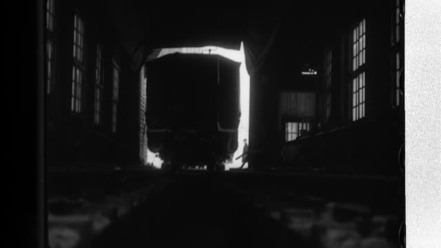 steam is used to thaw the ice on the wheels of a freight train before its coal cars are rotated to empty the coal onto conveyors which then... - anthracite coal stock videos & royalty-free footage