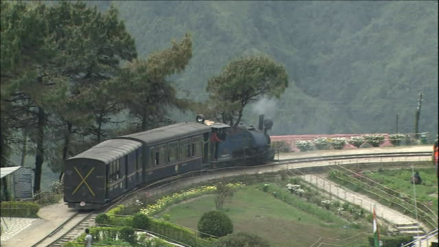steam locomotive, darjeeling himalayan railway - rail transportation stock videos and b-roll footage