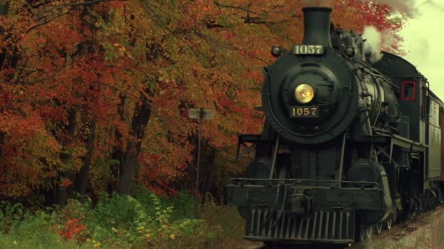 vidéos et rushes de steam locomotive past camera. - vapeur