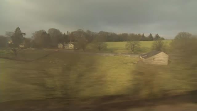 steam locomotive replaces main service on settle-carlisle line; steam locomotive replaces main service on settle-carlisle line; view from train... - スキップトン点の映像素材/bロール