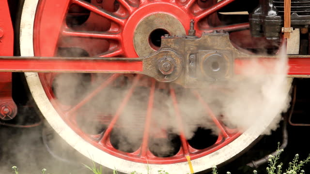 steam locomotive wheels - locomotive stock videos & royalty-free footage