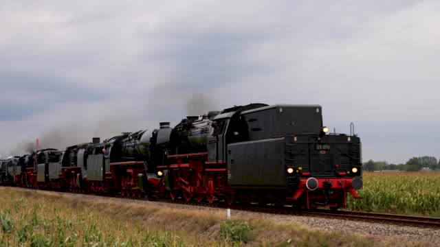 "9 steam locomotives at the vsm during ""back to then"" 2019 - voorbereiding stock videos & royalty-free footage"