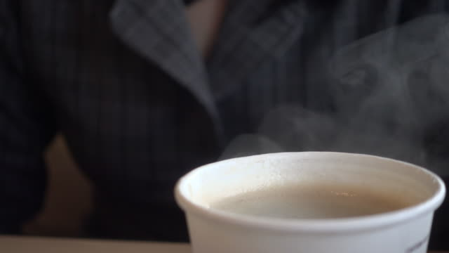 steam of hot coffee - coffee cup stock videos & royalty-free footage