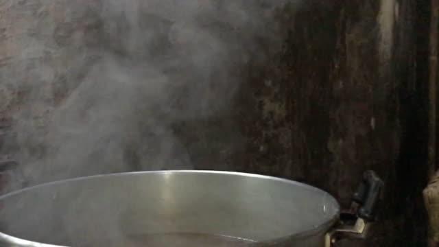 蒸気調理鍋で - 入れる点の映像素材/bロール
