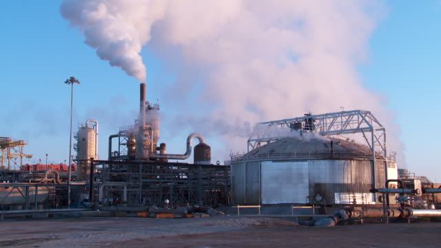 WS Steam rises from a geothermal power plant