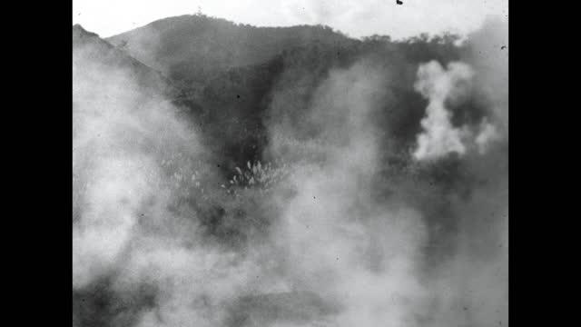 steam rising from geothermal vents in noboribetsu, japan; 1964 - steam stock videos & royalty-free footage