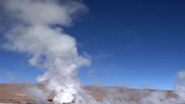 WS Steam rising over El Tatio geyser field, San Pedro de Atacama, El Loa, Chile