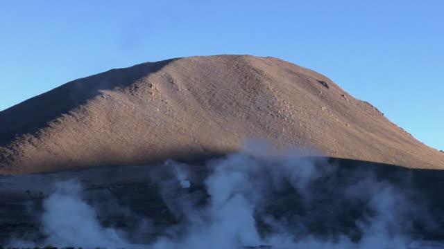 ws steam rising over el tatio geyser field, san pedro de atacama, el loa, chile - san pedro de atacama stock videos & royalty-free footage