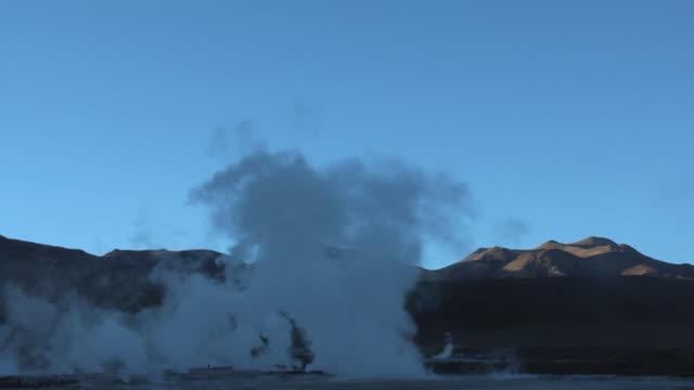 T/L WS Steam rising over El Tatio geyser field, San Pedro de Atacama, El Loa, Chile