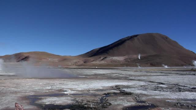 WS PAN Steam rising over El Tatio geyser field, San Pedro de Atacama, El Loa, Chile