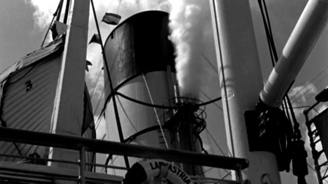 steam shoots from the whistle of a steamboat. - 1939 stock videos & royalty-free footage