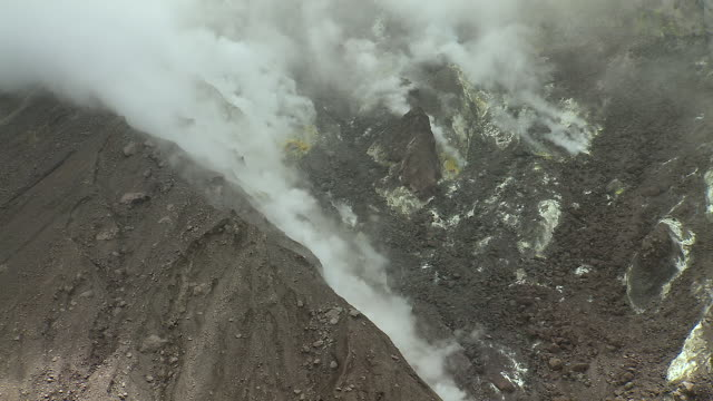 Steam Spews From Volcanic Vents