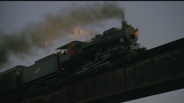 ms, la, steam train crossing bridge, tennessee, usa - 1920 stock videos & royalty-free footage