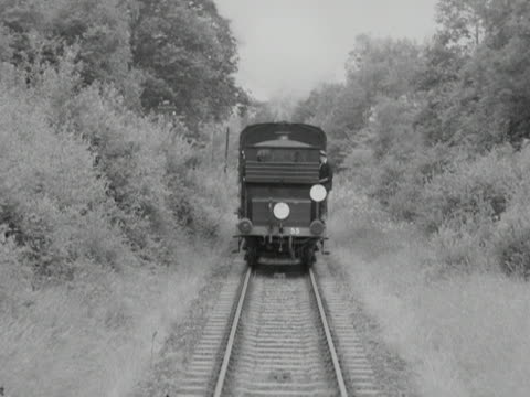 a steam train travels backwards along the bluebell railway - locomotive stock videos & royalty-free footage