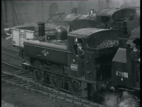 ms pan steam trains in motion at stations / swindon, wiltshire, england - wiltshire stock videos & royalty-free footage