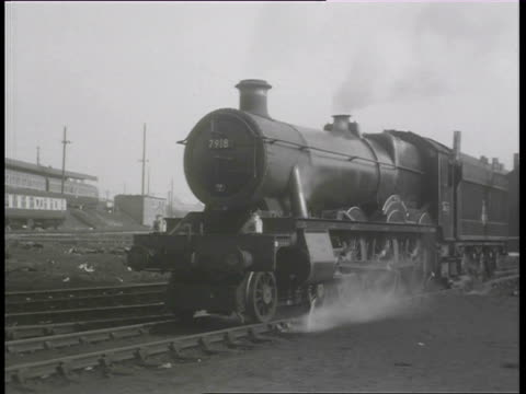 ms zi zo steam trains in motion at stations / swindon, wiltshire, england - locomotive stock videos & royalty-free footage