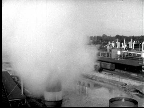 1937 Film Montage Ms Steam Whistles Blowing Ha Ws Steam Whistle