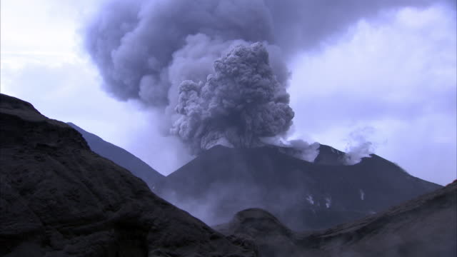 steaming hot spring and erupting volcano, new britain, png - erupting stock videos and b-roll footage