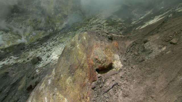 Steaming volcanic vent inside SoufriËre Hills Volcano on Montserrat.