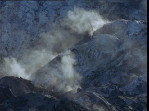 steaming volcanic vents, new britain, papua new guinea - ムラがある点の映像素材/bロール