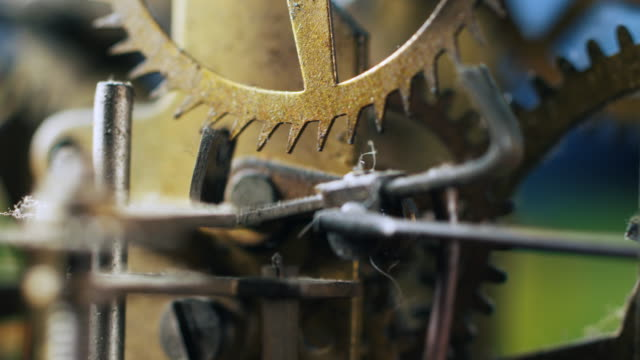steampunk macro 14 - clockworks stock videos & royalty-free footage