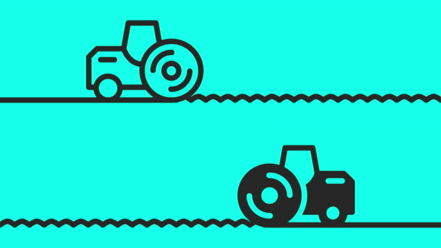 steamroller icons - vector animate - steamroller stock videos and b-roll footage