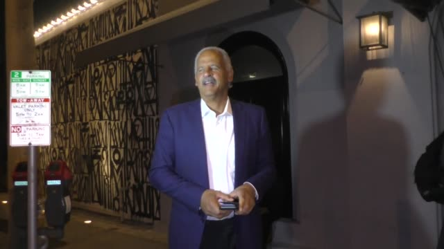 stedman graham is asked about kanye west's run for presidency after dinner with jim gray at craig's in west hollywood in celebrity sightings in los... - president stock videos & royalty-free footage