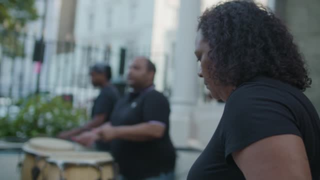 steel band players at notting hill carnival 2021 launch on july 26, 2021 in london, england. - greater london stock videos & royalty-free footage