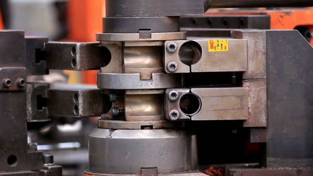 steel bending machine - hydraulics stock videos and b-roll footage