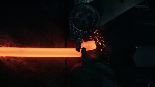 steel blooms produced and cut - thick stock videos & royalty-free footage