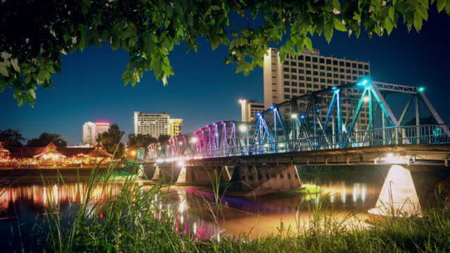 Steel Bridge in Chiang mai Thailand
