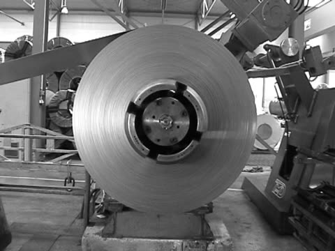 steel coil, metal factory - spiral stock videos and b-roll footage