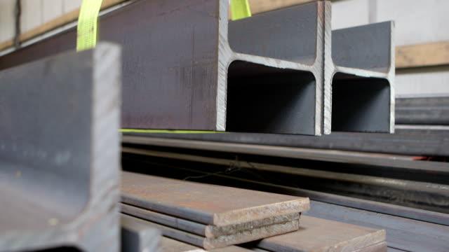 steel construction beams - steel stock videos & royalty-free footage