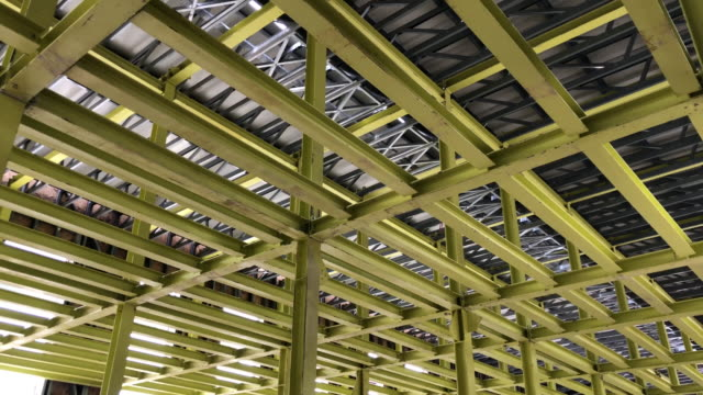 steel construction element - girder stock videos & royalty-free footage