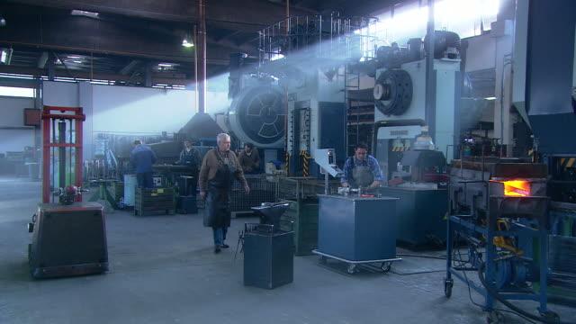 steel factory - artigiano video stock e b–roll