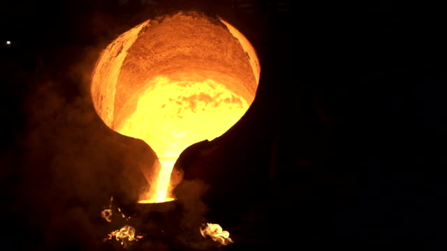 steel industry molten metal - molten stock videos and b-roll footage