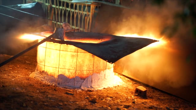 Steel Industry molten metal