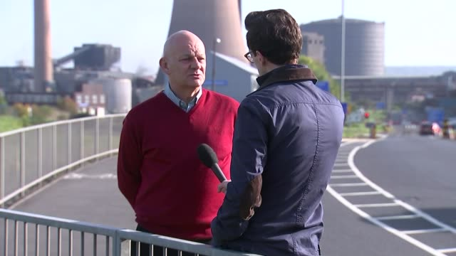 steel job losses in scunthorpe and lanarkshire scunthorpe ext paul mcbean interview sot feel sick / they are waging this war / the government doesn't... - costruttore navale video stock e b–roll