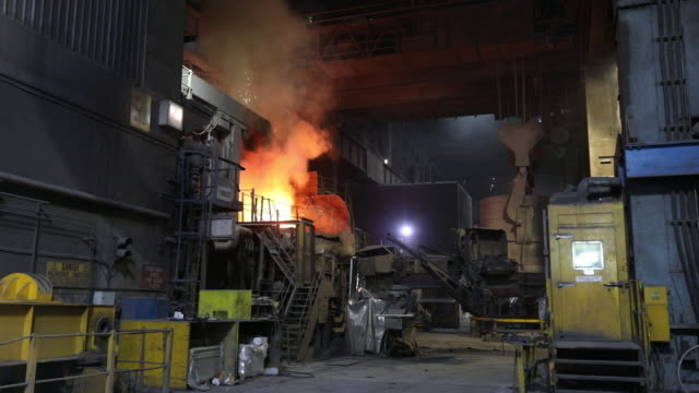steel manufacturing at liberty steel factory rotherham uk on thursday june 4 2019 - acciaieria video stock e b–roll